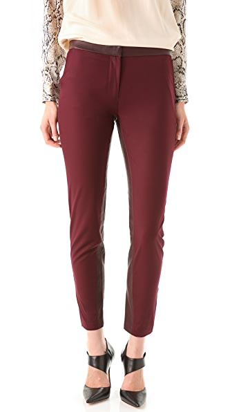 Elizabeth and James Maxwell Trousers with Leather Trim