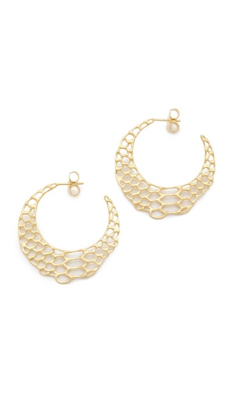 Elizabeth and James Small Serpentine Hoop Earrings