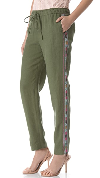 Elizabeth and James Embroidered Gessler Pants