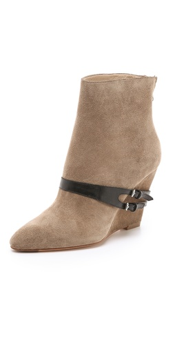 Elizabeth and James Reily Suede Wedge Booties at Shopbop / East Dane