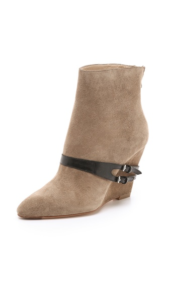 Elizabeth and James Reily Suede Wedge Booties