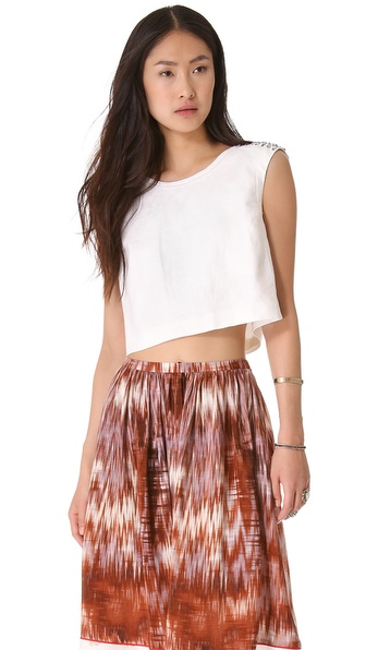 Elizabeth and James Embellished Brendan Top