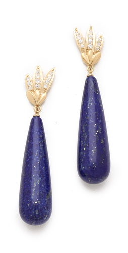 Elizabeth and James Wing Long Teardrop Earrings