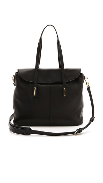 Elizabeth and James Large Satchel with Embossed Lizard