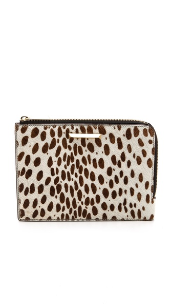 Elizabeth and James Printed Haircalf Clutch