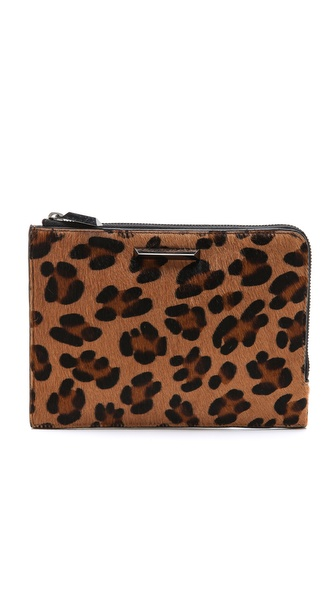 Elizabeth and James Print Haircalf Zip Wallet