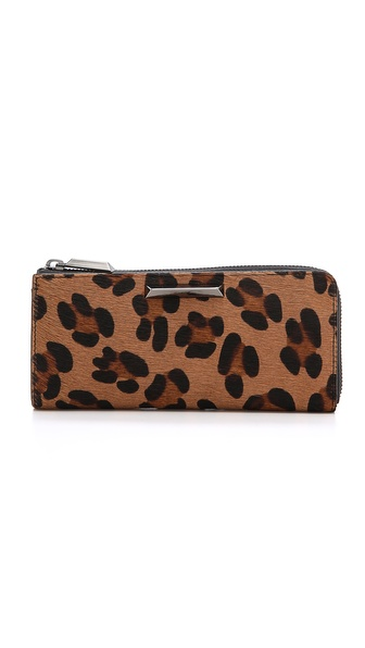 Elizabeth and James Print Haircalf Continental Wallet