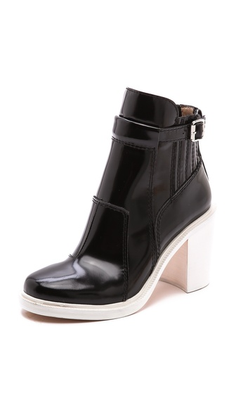 Elizabeth and James Tempt Contrast Heel Booties