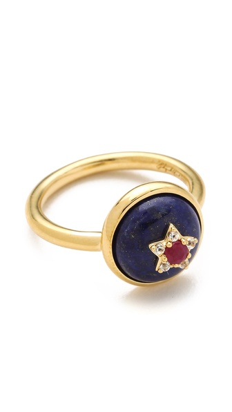 Elizabeth and James Plated Victorian Star Ring