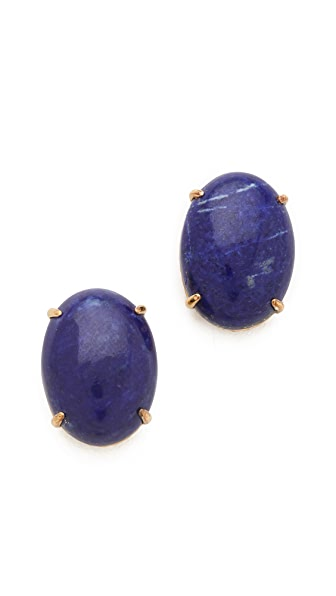 Elizabeth and James Berlin Oval Cabochon Stud Earrings