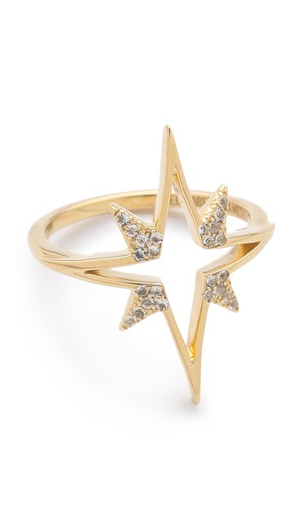 Elizabeth and James Northern Star Open Star Ring