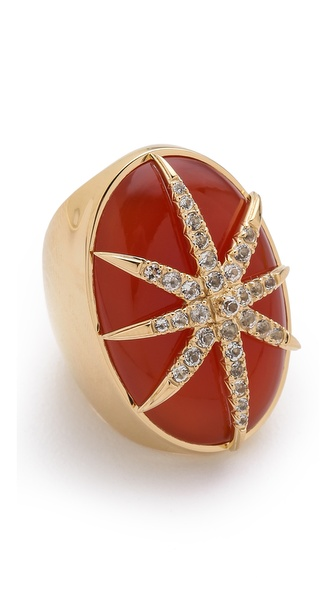 Elizabeth and James Northern Star Large Cabochon Ring
