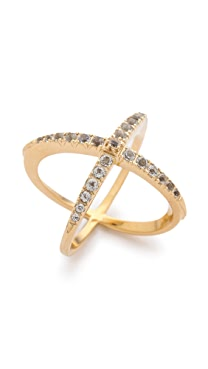 Elizabeth and James Windrose Pave Ring