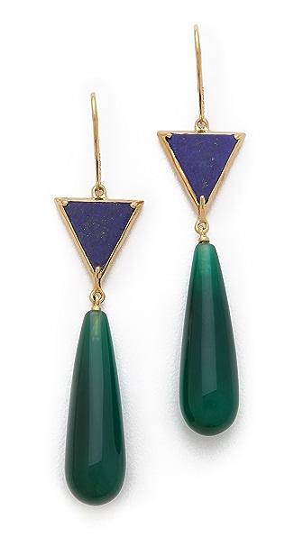 Elizabeth and James Metropolis Triangle Drop Earrings