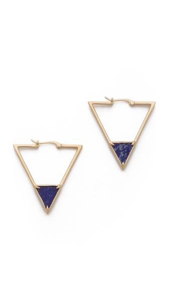 Elizabeth and James Metropolis Triangle Slab Hoop Earrings