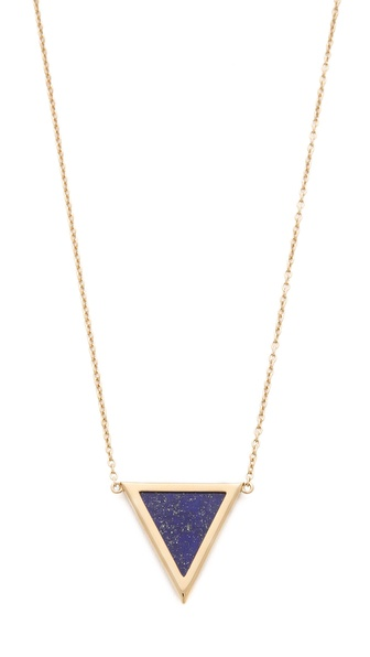 Elizabeth and James Metropolis Triangle Slab Pendant Necklace