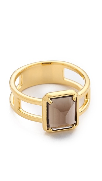 Elizabeth and James Metropolis Emerald Cut Stacking Ring
