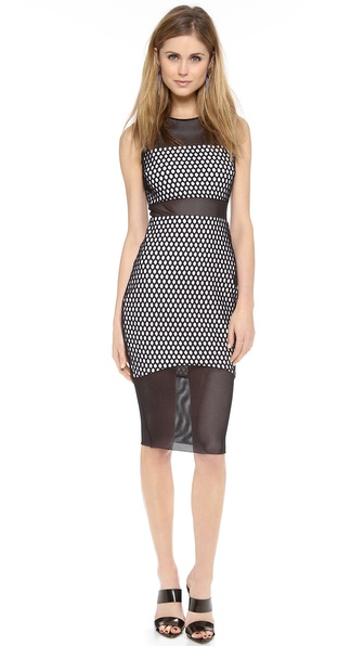 Elizabeth And James Eugna Sleeveless Dress - Black/White