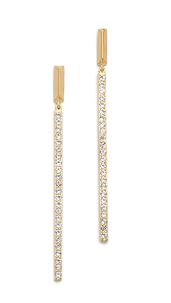 Elizabeth and James Bauhaus Pave Long Bar Earrings