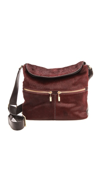 Elizabeth and James James Haircalf Cross Body Hobo Bag