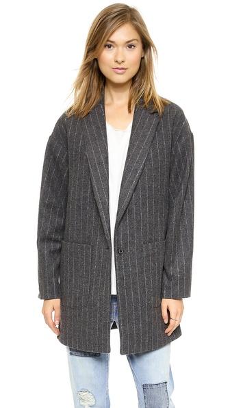 Elizabeth and James Carson Striped Coat