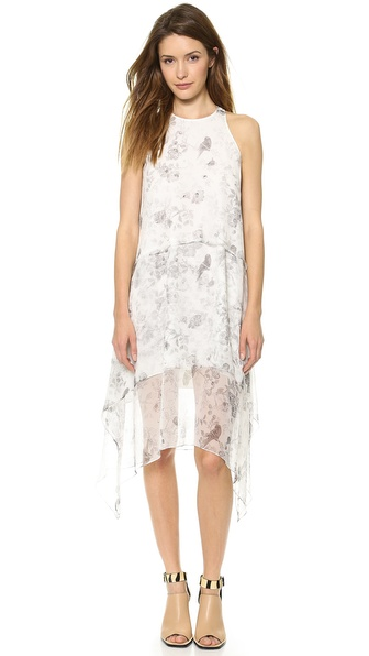 Elizabeth And James Floral Maylie Dress - Pale Grey