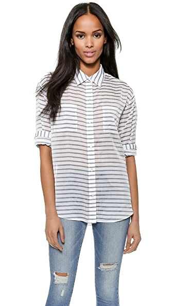 Elizabeth And James Elizabeth And James Emmanuelle Stripe Shirt (White)