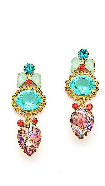 Elizabeth Cole Crystal Drop Earrings