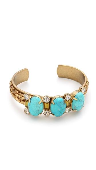 Elizabeth Cole Triple Stone Cuff Bracelet
