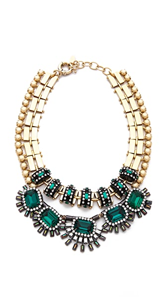 Elizabeth Cole Double Strand Collar Necklace