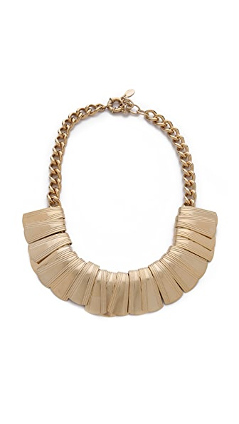 Elizabeth Cole Curled Plate Collar Necklace