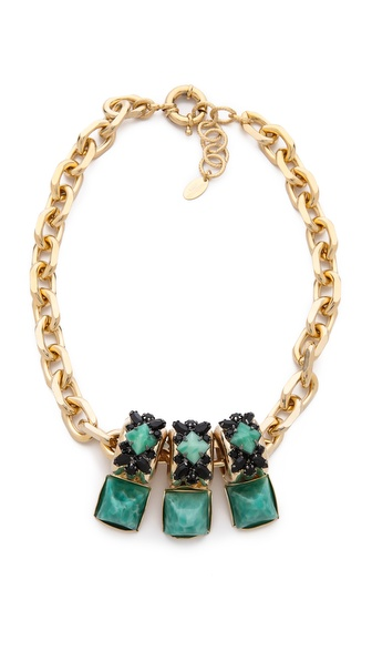Elizabeth Cole Stone Station Necklace