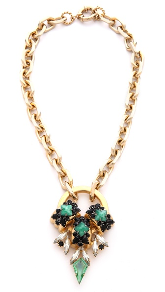 Elizabeth Cole Short Pendant Necklace