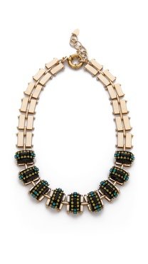 Elizabeth Cole Chunky Stone Necklace
