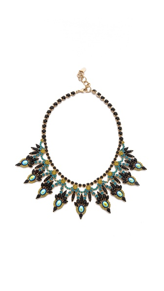 Elizabeth Cole Large Crystal Bib Necklace