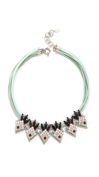 Elizabeth Cole Navette Station Necklace