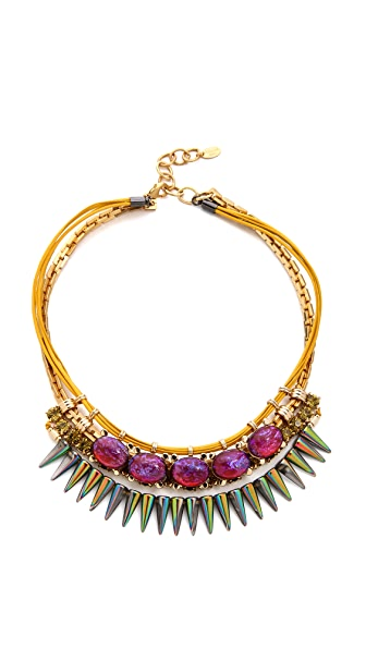 Elizabeth Cole Mexican Opal Bib Necklace