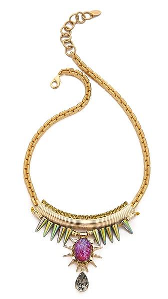 Elizabeth Cole Spike Crystal Necklace