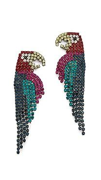 Elizabeth Cole Parrot Earrings