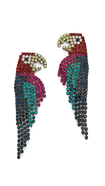 Elizabeth Cole Parrot Earrings