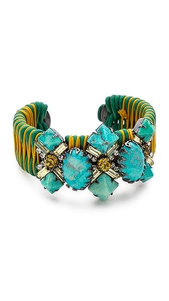 Elizabeth Cole Turquoise Large Cuff Bracelet