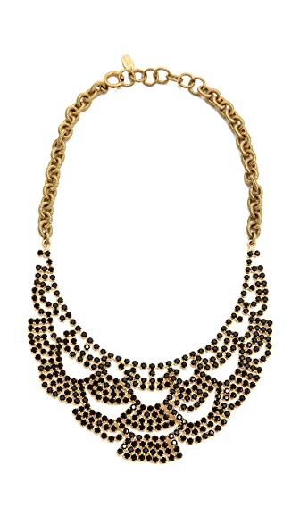 Elizabeth Cole Lace Necklace