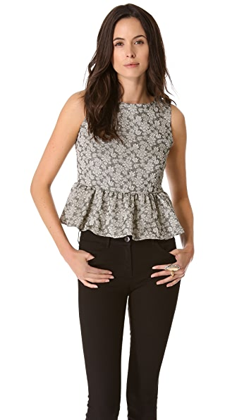 Elkin Kitty Peplum Top
