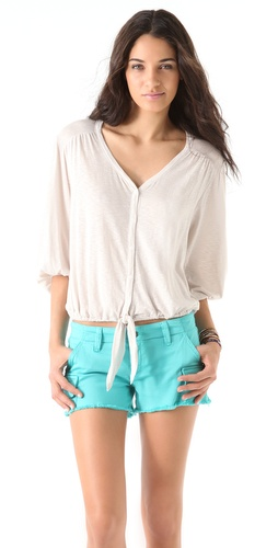 Ella Moss Tie Front Blouse