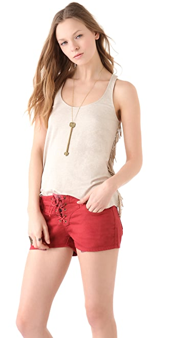 Ella Moss Girl's Best Friend Fringe Tank Top