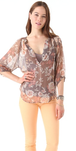 Ella Moss Rosa Flora Top