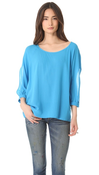 Ella Moss Stella Open Shoulder Blouse