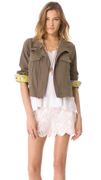 Ella Moss Citrus Floral Jacket