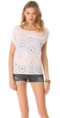 Ella Moss Heidi Eyelet Top