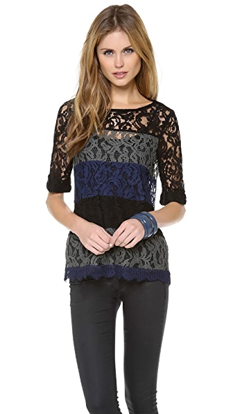 Ella Moss Short Sleeve Lace Top